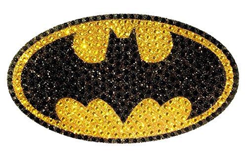 (DC Comics CH BAT LOGO001 Crystal Studded Batman Bling Logo Car Window Sticker Decal)