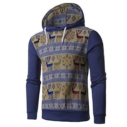 Lunghe Di Camicetta Superiore Blu Bhydry Maniche Felpa Stampa Stile Autunno Nazionale Mens A Con Inverno Cappuccio npv6HWWR