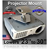 "Projector-Gear Projector Ceiling Mount for SONY VPL-HW50ES with 23"" to 30"" Extension"