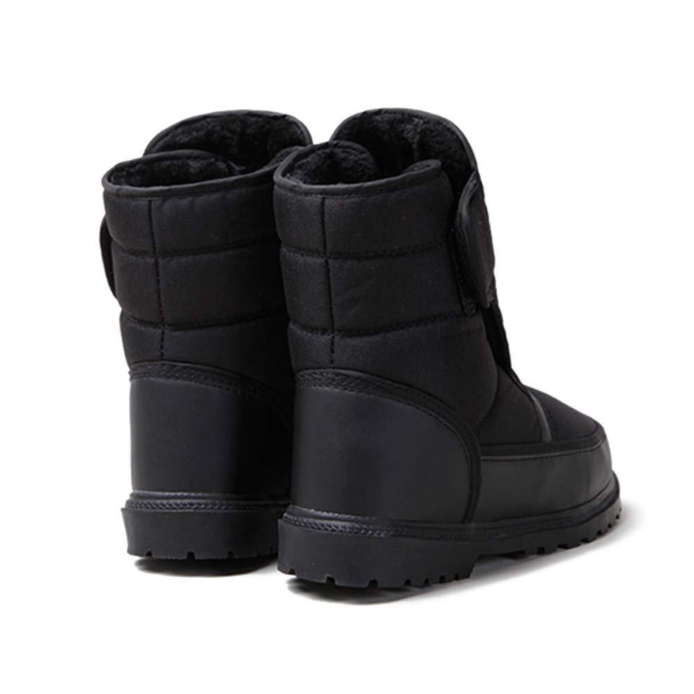 Schneestiefel für Herren mit EIS-Slip-Plane Planenmaterial geeignet  für den Winter im Freien (Farbe   geeignet Schwarz, Größe   46EU(11UK)) cb9dbd