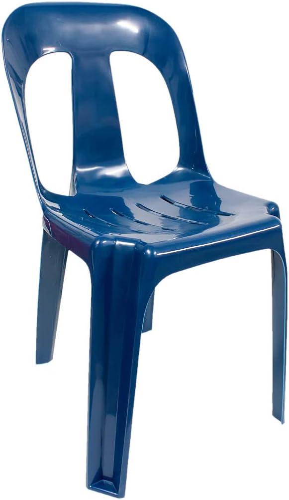 PAMEX - Silla de Plástico Azul Marino: Amazon.es: Jardín