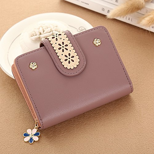 JD Million shop Flower Women Wallet Small Clasp Women Purse Brand Female Wallet Zipper Coin