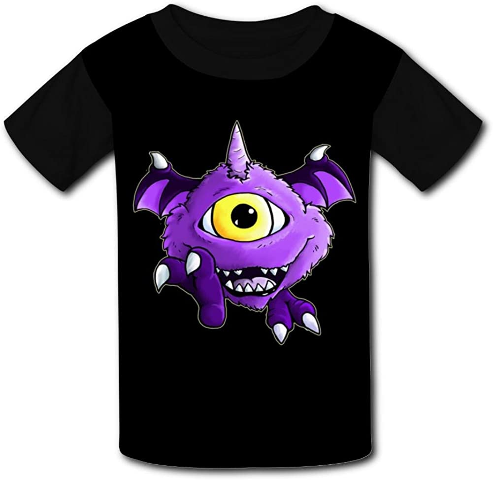 Wcpol One Eyed One Horned Kids Tee Shirt Top Tee Short Sleeve for Girls