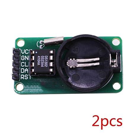 Fornateu 2pcs / Set Alta precisión RTC DS1302 Módulo de ...