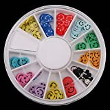Fimo Multicolor Design Nail Art Random Mixed 120pcs Slice Patterns Smiling Face