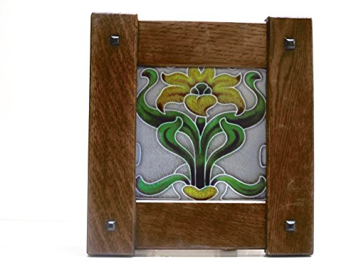 """ories › Tiles Augie's Woodworking Arts & Crafts 6"""" X 6"""" Framed Tile Handmade Handcrafted Mission Style Quartersawn White Oak Mission Style from Augie's Woodworking"""
