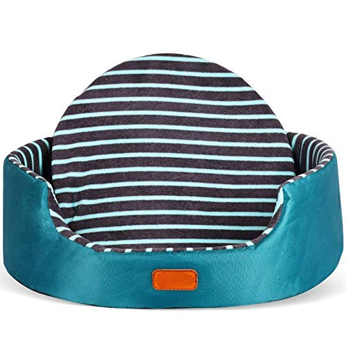 Green Stripe L Green Stripe L Cookisn All Season Pet Dog Bed Detachable Puppy Cat House Star Paw Comfortable Pad Sofa Mat Coral Fleece Bed for Small Medium Large Dogs Green Stripe L