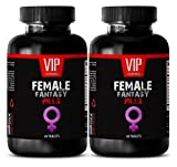 Testosterone And Libido Booster - FEMALE FANTASY (NATURAL FORMULA) - Horny Goat Weed For Women Sex Drive - 2 Bottle (138 Tablets)