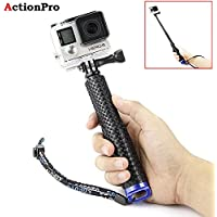 Action Pro 19'' Waterproof Hand Grip Adjustable Extension Selfie Stick Handheld Monopod for GeekPro/GoPro HD Hero 2018 7 6 5 4 3+ 3 2 1, AKASO, SJCAM SJ4000 SJ5000 Xiaomi Yi(with Wrist Strap and Screw) (ACPRO0141)