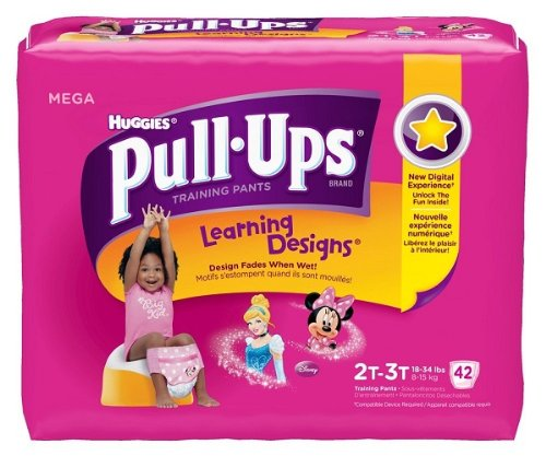 Huggies Pull-Ups Training Pants Learning Designs, 2T - 3T, Girl, 42 Count (Pack of 4) by Pull-Ups