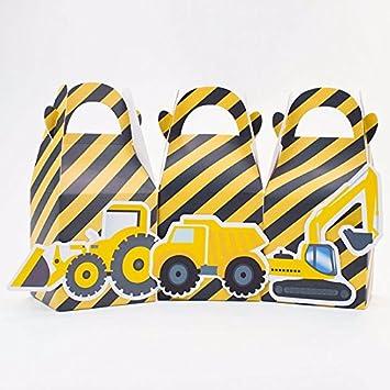Amazon.com: Construcción de camiones Favor Caja Candy – Caja ...