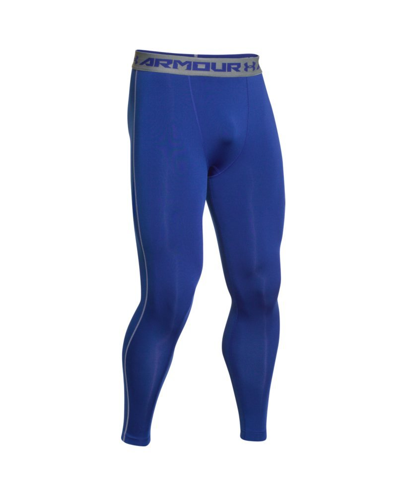 Under Armour Men's HeatGear Armour Compression Leggings, Royal /Steel, XXX-Large by Under Armour (Image #4)