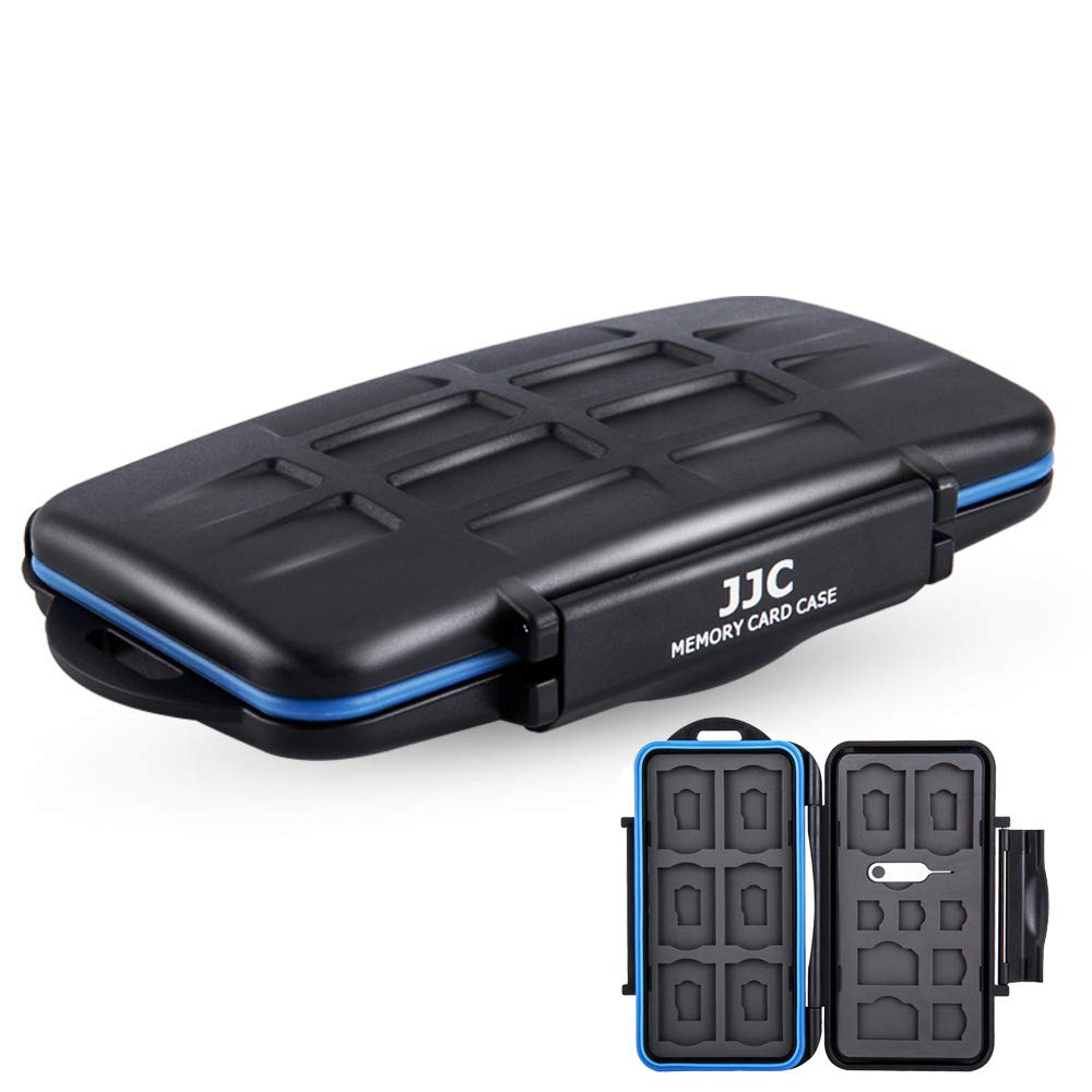 SIM Card Holder MicroSD SD SDHC SDXC Card Case Storage Organizer with Tool,Fit SIM x 2,Micro SIM x 2,Nano SIM x 3,SD x 8,Micro SD x 8,Water-Resistant Anti-Shock by JJC