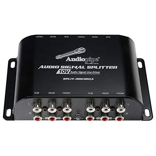 Audiopipe Multi-Audio Amplifier 3 RCA outputs w/bulit in 10V line driver (Rca Driver Line)