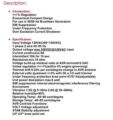 Nueva Leroy Somer regulador de voltaje automático AVR R230 ...