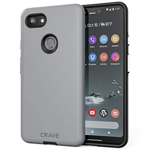 Pixel 3 XL Case, Crave Dual Guard Protection Series Case for Google Pixel 3 XL - Slate