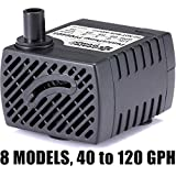 PonicsPump PP06605: 66 GPH Submersible Pump with 5' Cord - 3W... for Quality Indoor/Outdoor/Table-Top Fountain Pump for Fountains, Statuary, Aquariums & more. Comes with 1 year limited warranty.