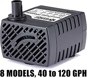 PonicsPump PP06605: 66 GPH Submersible Pump with 5' Cord - 3W… for Quality Indoor/Outdoor/Table-Top Fountain Pump for Fountains, Statuary, Aquariums & more. Comes with 1 year limited warranty.