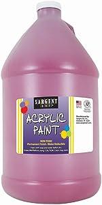 Sargent Art Half Gallon Magenta 64 Ounce Acrylic Paint