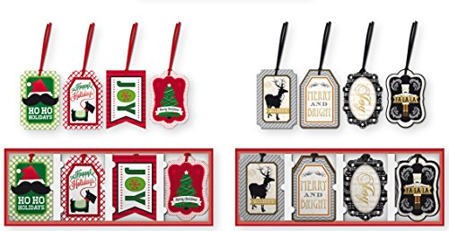 24 Count Christmas Gifting Tags, Holiday Gift Labels Gifting Supplies
