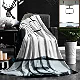 Nalagoo Unique Custom Flannel Blankets Car Rear View Mirror Isolated On White Super Soft Blanketry for Bed Couch, Throw Blanket 50'' x 70''