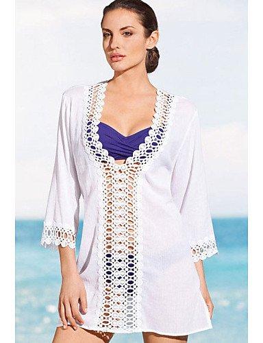 Damen - Strandkleidung ( Polyester/Elasthan ) , white-one-size , white-one-size