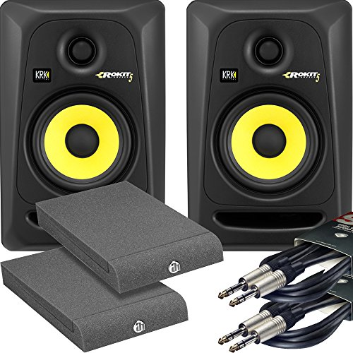 KRK Rokit RP5 G3 Active Studio Monitors Kit - Cables and Isolation Pads...