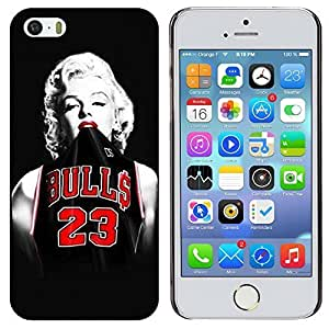 H&F Apple Iphone5/5s Hard Plastic Case Cover with Monroe Print(Monroe in Bulls jersey 23)