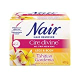 Nair Cire Divine No Strip Resin Wax for Legs & Body, Tahitian Gardenia, 400-g