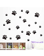 Hot Sale!DEESEE(TM)🌸🌸Walking Paw Prints Wall Decal Home Art Decor Dog Cat Food Dish Room Sticker