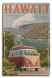 Lantern Press Hawaii Volcanoes National Park, Hawaii - Camper Van (10x15 Wood Wall Sign, Wall Decor Ready to Hang)