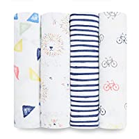 aden + anais swaddle 4 pack, leader of the pack
