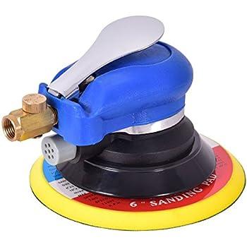 Goplus Air Palm Random Orbital Sander Dual Action Pneumatic Polisher Grinding Sanding with Pad (6 inch)
