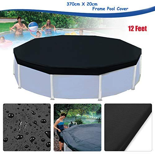 (dDanke Black 12ft Winter Round Pool Cover for Round Above Ground Swimming Pools 3.7x0.2m)