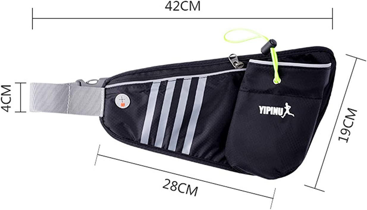 BHCsports Outdoor Running Sports Bottle Pockets Waterproof Riding Hiking Mountaineering Bag Marathon Mobile Phone Bag.