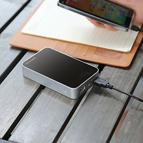 MAXOAK 13000mAh power Bank by signifies of  Digitron power indicate External Battery Charger two USB power Pack for Android telephone Samsung HTC Smartphones Tablets S16 Black CA Batteries