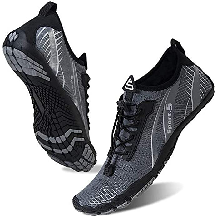 Water Shoes for Men Barefoot Quick-Dry Aqua Sock Outdoor Athletic Sport Shoes for Kayaking, Boating, Hiking, Surfing, Walking