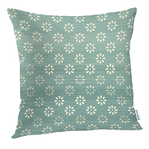 Batmerry Spring Pillows Decorative Throw Pillow Covers 18x18 Inch, Blue Polka Dot Abstract Flower Pattern Decorative Double Sided Square Pillow Cases Pillowcase Sofa Cushion