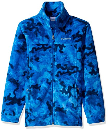 Jackets Columbia Camo (Columbia Little Boys' Zing LLL Fleece Jacket, Marine Blue Camo, X-Small)