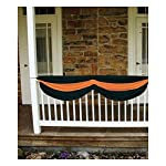Halloween FABRIC BUNTING Orange and Black- Great for Vintage Retro Decor