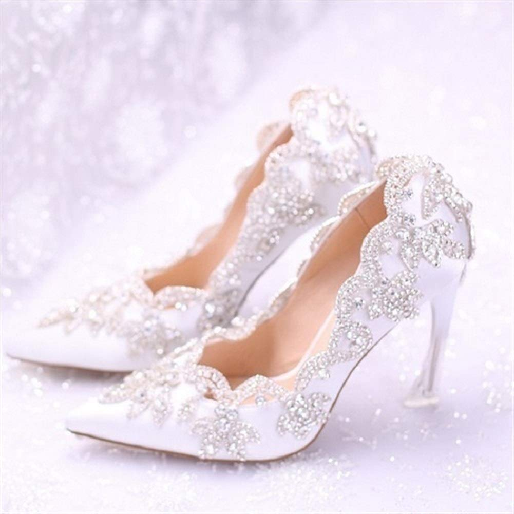 W7 HAIYUGUAGAO Hochzeitsschuh for for Frauen Diamond Crystal Pointed Toe High Heel Kleid Schuhe (Farbe   W7, Grou ;szlig;e   3.5)  bester Ruf