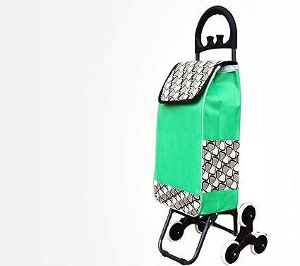 ab177b2c57d1 Amazon.com: TYUIO Foldable Grocery Shopping Cart – Stair Climber ...