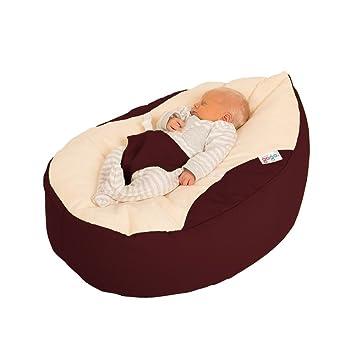 Astounding Rucomfy Luxury Cuddle Soft Gaga Baby Bean Bag Aubergine Dailytribune Chair Design For Home Dailytribuneorg