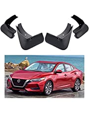 Car Mud Flaps Splash Guards Replacement for Nissan Sentra Sedan 2020 2021 Custom Front Rear Mudguard Kit Molded Fender Mudflaps Full Protection Auto Accessories,4-pc Set