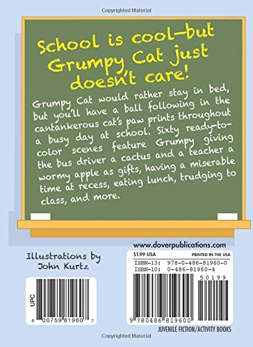 Grumpy Cat Goes to School Mini Coloring Book (Dover Little Activity Books)