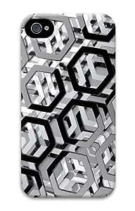 3d hexagons PC Case for iphone 4S/4 Kimberly Kurzendoerfer