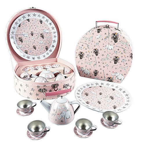 Party Animal 11 Piece Tin Tea Set by Floss & Rock