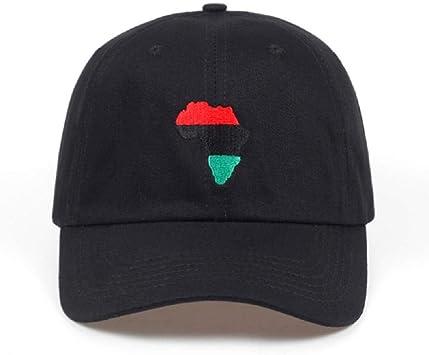 Lvntsx Las Gorras de béisbol Mapa de África Sombrero no ...