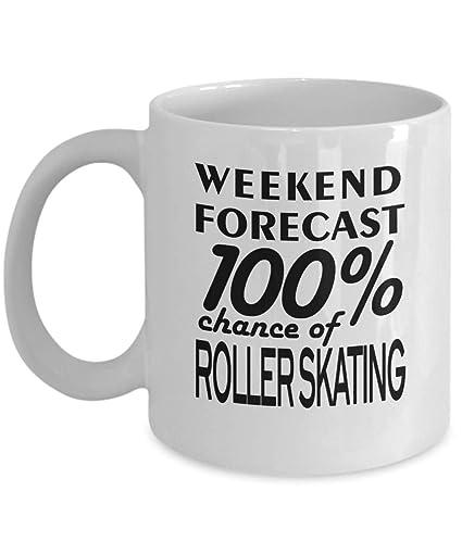 Amazon.com: Funny Roller Skating Mug Quote 11oz - Weekend ...