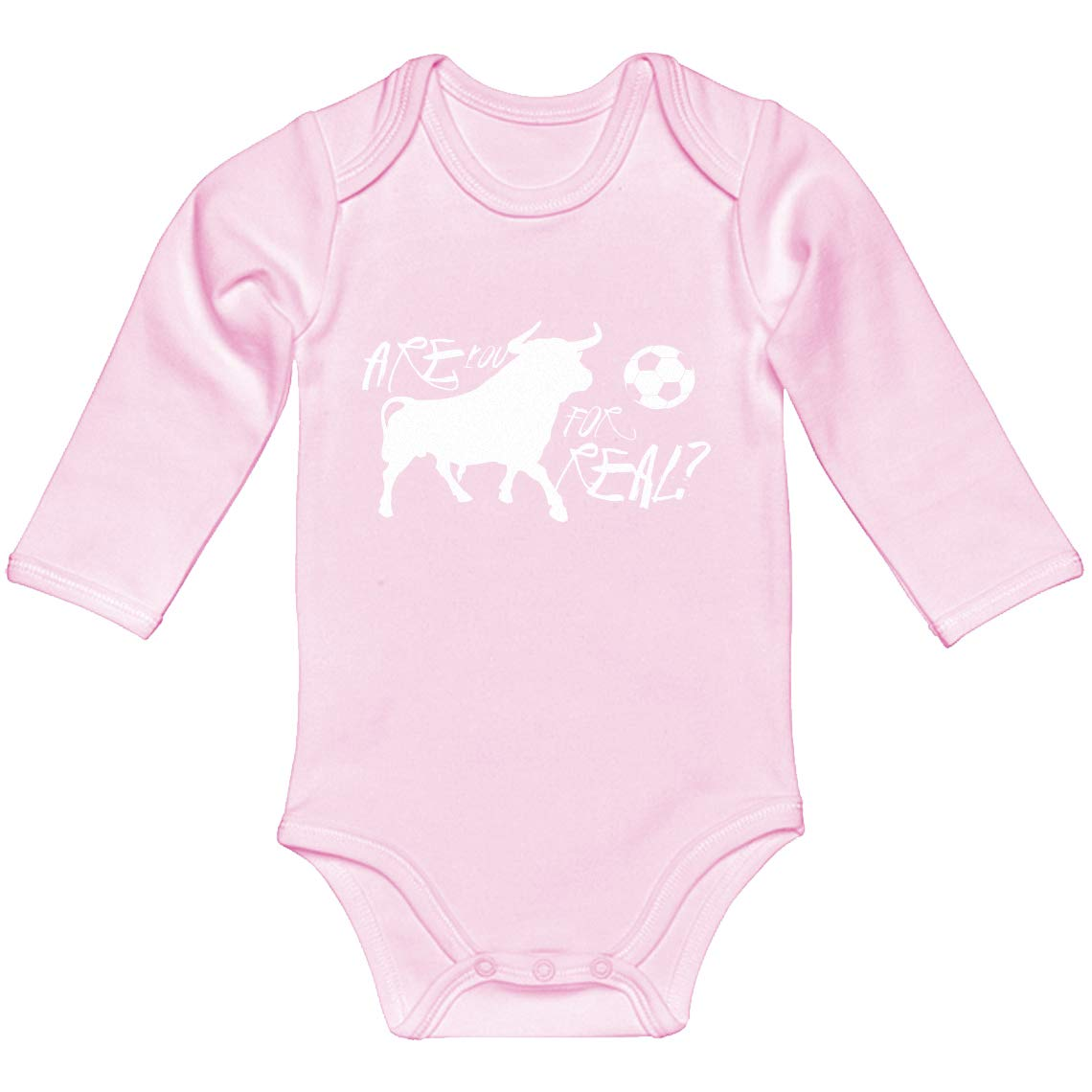 Baby Romper are You for Real 100/% Cotton Long Sleeve Infant Bodysuit